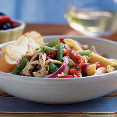 Chicken-Penne Salad with Green Beans Recipe