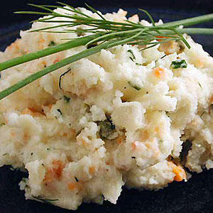 Smoked Salmon and Chive Mashed Potatoes Recipe