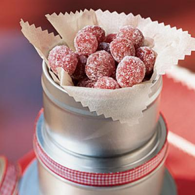 Try our sugared cranberries (pictured). At 118 calories per serving, they're a great light alternative to packaged sweets.