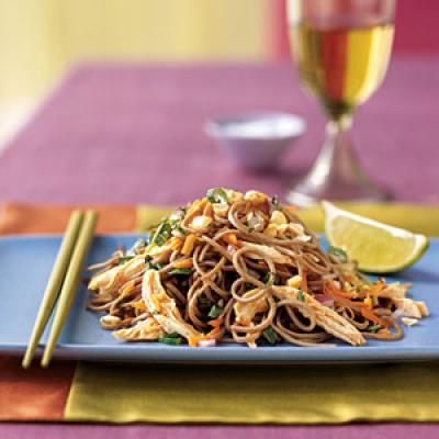 Peanut Chicken Soba Salad - Healthy Pasta Salad Recipes - Cooking ...