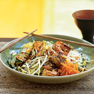 Lemongrass Shrimp over Rice Vermicelli and Vegetables - Shrimp on the ...