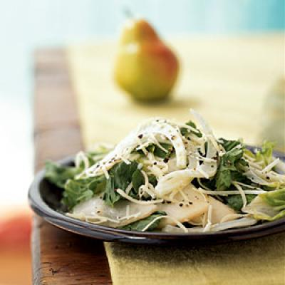 Escarole and Fennel Salad with Pears and Gruyere