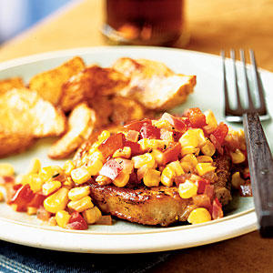 Smoked Paprika Pork Chops with Bell Pepper and Corn Relish - Quick and ...
