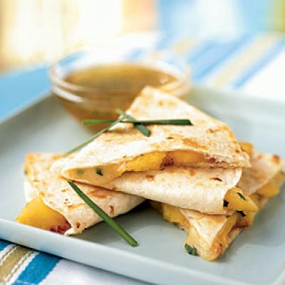 Healthy Kids Meal Peach and Brie Quesadillas Recipes