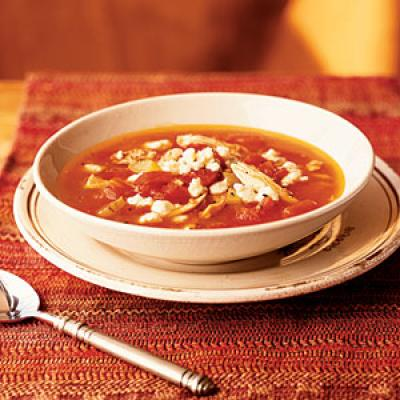 Tomato Soup with Chicken and Gorgonzola Cheese - Quick, 20-Minute Soup ...