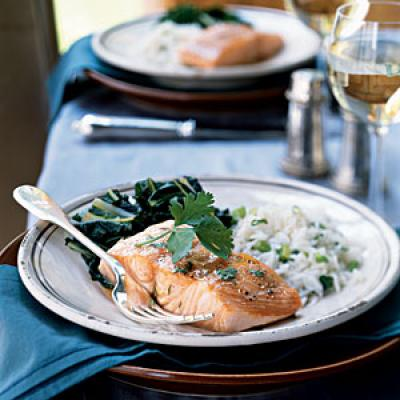100 ways to cook with salmon cooking light for Temperature to bake fish