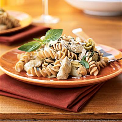 Kamut Spirals with Chicken-Artichoke Wine Sauce - Superfast Pasta ...