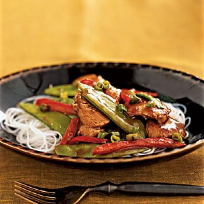 Hoisin Pork and Snow Pea Stir-Fry