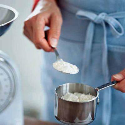Be sure to measure carefully. Lightly spoon flour into dry measuring cups, and level with a knife. If you have a kitchen scale, use it for accurate measurements.