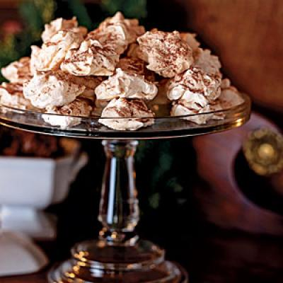 View Recipe: Chocolate-Dipped Almond Meringues