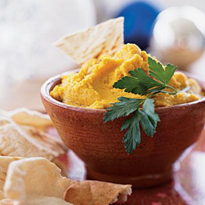 Cumin Curried Hummus - Superfast Appetizers - Cooking Light