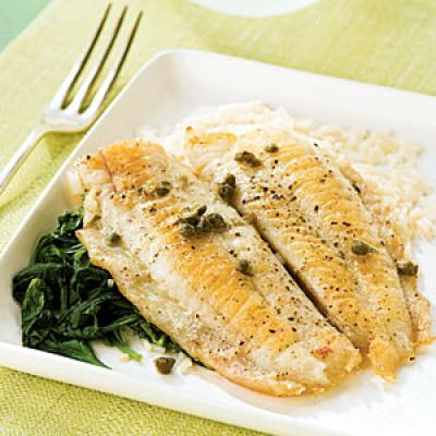 Flounder Piccata with Spinach - Flounder Recipes - Cooking ...