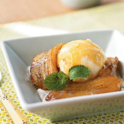 Browned Butter Bananas with Orange-Brandy Sauce