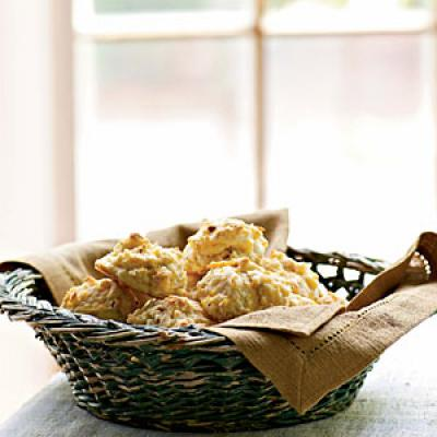 Cheddar-Bacon Drop Biscuits - Healthy Biscuit Recipes - Cooking Light