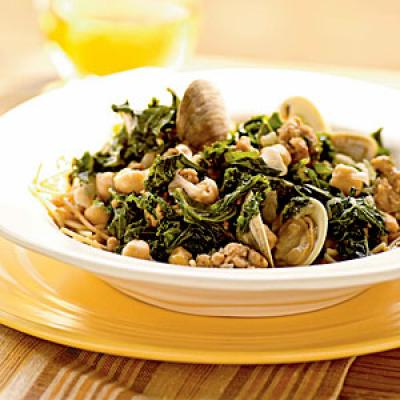 Sausage and Clams with Chickpeas Recipe