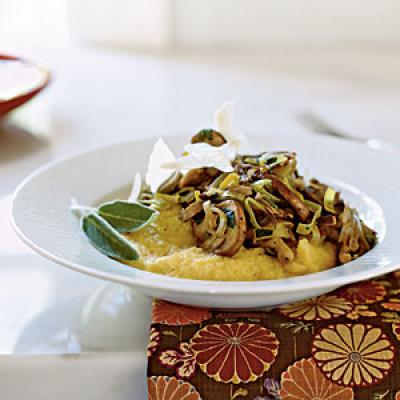 Soft Polenta With Forest Mushrooms Recipe — Dishmaps