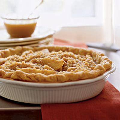 Pear Pie with Streusel Topping and Caramel Sauce Recipes