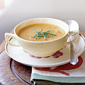 Healthy Roasted Butternut Squash and Shallot Soup Recipe