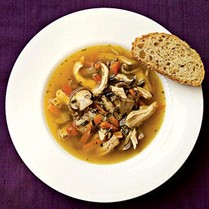 Wild Rice and Mushroom Soup with Chicken - 100+ Healthy Soup Recipes ...