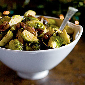 Roasted Brussels Sprouts with Chestnuts - Brussels Sprouts Recipes ...