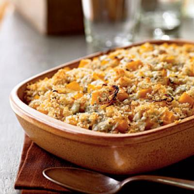 Butternut Squash Gratin with Blue Cheese and Sage - Healthy Butternut ...