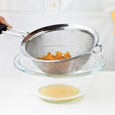 Strain through a sieve, shaking off excess moisture to prevent clumping; discard liquid.