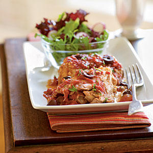 Chicken Thighs with Olives and Tomato Sauce Recipes