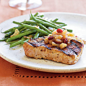 Spiced Pork Chops with Apple Chutney Recipe