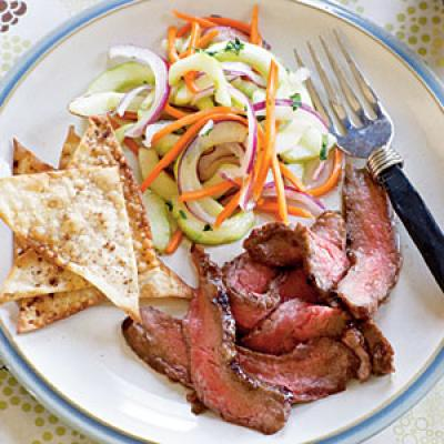 Steak and Salad Protein