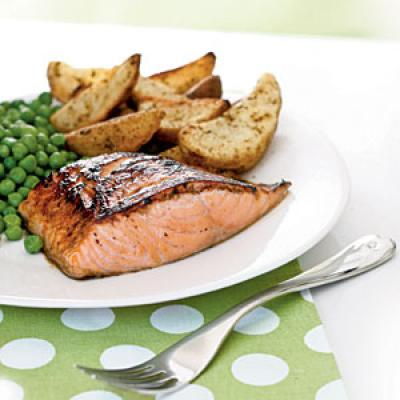 Salmon with Maple-Lemon Glaze