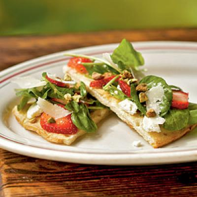 Strawberry, Pistachio, and Goat Cheese Pizza Recipes