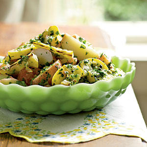 Potato Salad with Herbs and Grilled Summer Squash Recipe