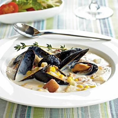 Corn, Clam, and Mussel Chowder - Our Best Healthy Chowder Recipes ...