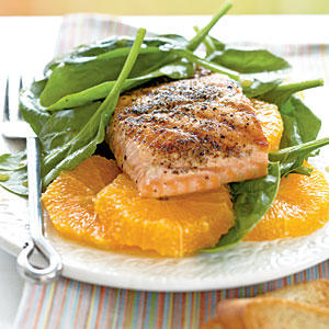Grilled Salmon and Spinach Salad Recipe