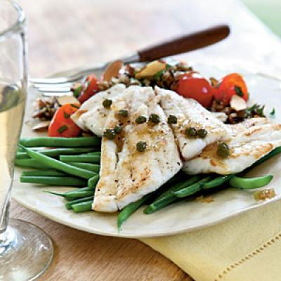 August: Sauteed Sole with Browned Butter and Capers