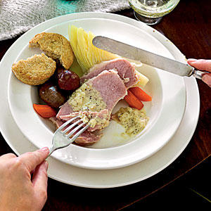 St. Patrick's Day Recipes: Irish Bacon and Cabbage with Mustard Sauce