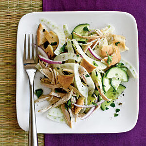 Pita Salad with Cucumber, Fennel, and Chicken Recipes