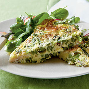 Healthy Dinner Recipe: Asparagus and Smoked Trout Frittata