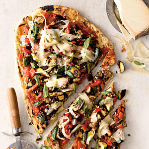 Healthy Veggie Grilled Pizza Recipe