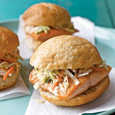 Arctic Char Sandwiches with Lemon-Tarragon Slaw Recipes
