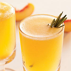 know that foodie fridays peach rosemary peach rosemary sparkler