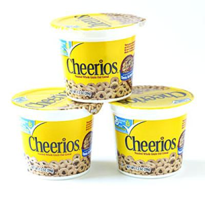 Whole grain cereal cups