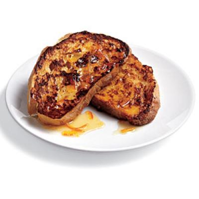 Ciabatta French Toast with Marmalade Drizzle Recipe