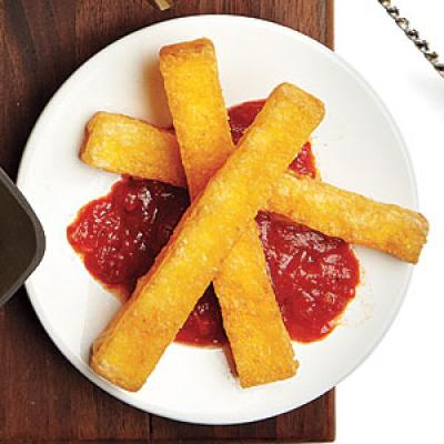 Splurge Choice: Fried Polenta and Marinara - Healthy Italian Resturant ...
