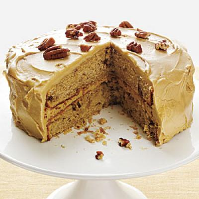Pecan Spice Cake with Maple Frosting - Luscious Layer Cake Recipes ...