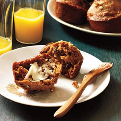 Spiced Persimmon and Pecan Muffins Recipes