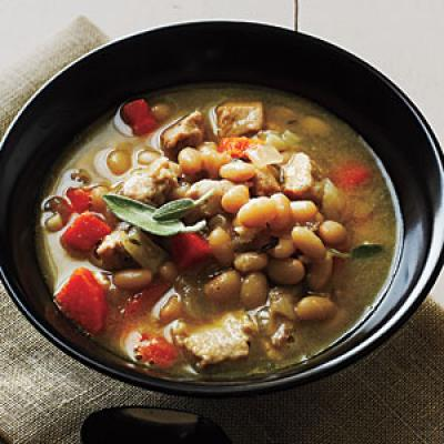 Pork and Herbed White Beans Recipes