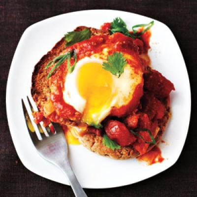 Eggs Poached in Curried Tomato Sauce Recipe