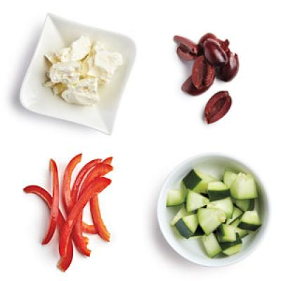 100-Calorie Greek Salad Topping