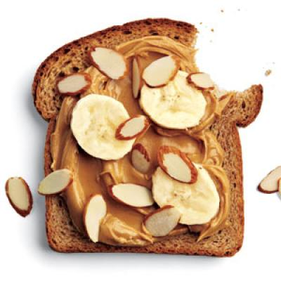 Whole Wheat Bread with Peanut Butter